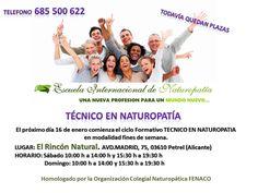 ELDA/PETRER: Técnico en Naturopatía | Escuela Internacional Naturopatia M.R.A.