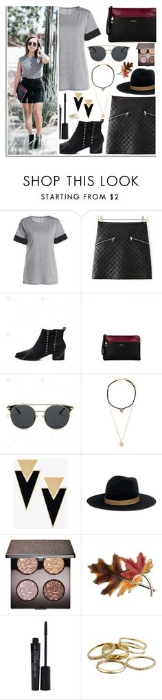 """DressLily"" by dora04 ❤ liked on Polyvore featuring TOUS, Yves Saint Laurent, Janessa Leone, Laura Mercier, Anne Klein, Smashbox, Kendra Scott, BloggerStyle and dresslily"