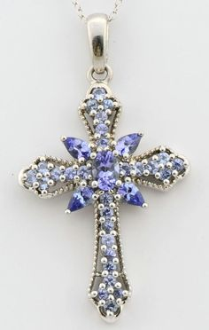 Victorian etruscan cross pendant crosses pinterest victorian tanzanite 250 carat genuine gemstone cross pendant in 925 sterling silver djoyer pendant aloadofball Choice Image