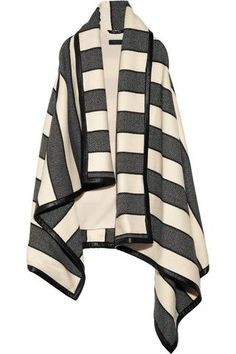 Rag & bone | Leather-trimmed striped woven wool-blend blanket vest | NET-A-PORTER.COM