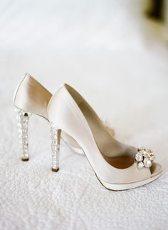 Enchanting Alfresco Wedding Positively Glowing with Candlelight Bridal Heels, Wedding Heels, Wedding Attire, Decor Wedding, Wedding Decorations, Wedding Dresses, Magical Wedding, Dream Wedding, Embellished Heels