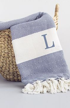 Cathy's Concepts Personalized Turkish Cotton Throw