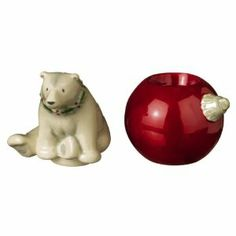 """Grasslands Road Stackable Polar Bear Salt and Pepper Set by AMSCAN. $13.95. Size: Each shaker: 2 1/2"""" x 2 3/4"""". Can be stacked. Ceramic. Spice up your celebration! Our Stackable Salt and Pepper Shakers features four adorable woodland creature styles. An acetate gift box is included with each affordable piece."""