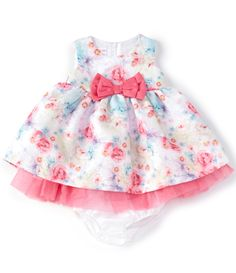 Bonnie Jean Baby Girls Months Bow-Waist FloralTulle Fit-And-Flare Dress - 18 Months Toddler Girl Style, Toddler Girl Outfits, Toddler Fashion, Kids Outfits, Fashion Kids, Toddler Girls, Men's Fashion, Baby Girl Bows, Baby Girl Dresses
