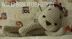 How adorable is this crocheted Bruno Bear? This is being added to my list. Will go in a stocking stuffer for my Lutheran Church's Angel tree at Christmas time.      Free pattern is here. The blogger has requested users to leave a comment in they use her pattern.    http://baghisblog.blogspot.com/2010/08/free-amigurumi-pattern-bruno-bear.html