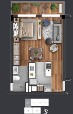 bedroom apartment and house plans ideas 15 ~ mantulgan.me bedroom apartment and house plans ideas 15 ~ mantulgan. Small Apartment Plans, Studio Apartment Floor Plans, Studio Apartment Layout, Small Apartment Design, Small House Design, Modern House Design, House Layout Plans, Small House Plans, House Floor Plans