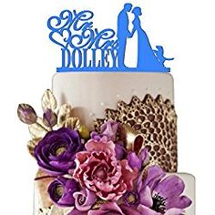 Cake Topper # 5 Light Blue Wedding Cake Topper Personalized Cake Toppers for Wedding Decoration Personalized Wedding Cake Toppers, Custom Cake Toppers, Blue Wedding, Wedding Cakes, Wedding Decorations, Place Card Holders, Make It Yourself, Light Blue, Sugar