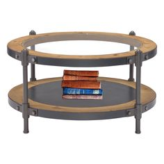 Bring contemporary flair to your living room with this alluring and spacious coffee table.