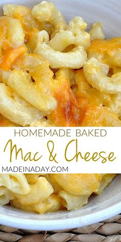 Homemade Macaroni and Cheese, southern style mac & cheese Southern Side Dishes, Southern Recipes, Macaroni Cheese Recipes, Mac Cheese, Baked Mac And Cheese Recipe, Mac Recipe, Baked Macaroni, Side Dish Recipes, Dinner Recipes