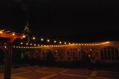 Garden space at night, Belltower Chapel & Garden!