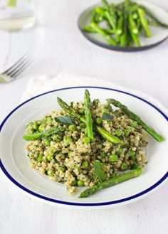 Springtime Vegan Buckwheat Risotto - Sprinkle of Green