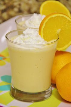 Orange Julius copycat: 2 cups vanilla ice cream 1/2 tsp pure vanilla extract 1 cup orange juice Add all ingredients to a blender and process on high until smooth. Top with a little whip cream and an orange slice. (Great idea for a summer wedding non alcoholic kids option)