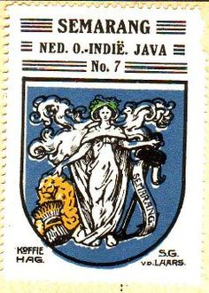 Old Commercials, Dutch East Indies, Semarang, Old Ads, Print Advertising, Illustrations And Posters, Coat Of Arms, Old Pictures, Trip Planning
