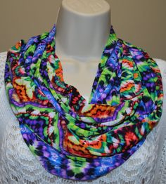 multicolor spring infinity scarf spring by byJuliasDesigns on Etsy, $25.50