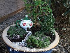 Tutorial for how to create a charming, miniature fairy garden landscape