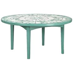 Coffee Table with Ceramic Inlays by Bjorn Wiinblad, Denmark, 1970s | From a unique collection of antique and modern coffee and cocktail tables at https://www.1stdibs.com/furniture/tables/coffee-tables-cocktail-tables/