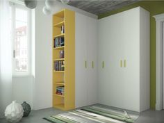 Corner wardrobe for kids' bedrooms TIRAMOLLA 917-A by TUMIDEI