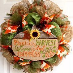 Autumn Inspirational Handmade Deco Mesh Wreath 20 Inches What A Mesh by Diana http://www.amazon.com/dp/B00NUDBPTE/ref=cm_sw_r_pi_dp_ZJZTub14YZ1K1