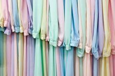 Pastel chiffon shirts