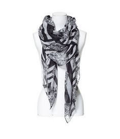 SKULLS AND STRIPES PRINTED SCARF - Accessories - Woman - ZARA United States