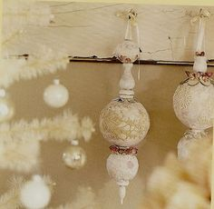 Finial Ornament  Made with a 12 inch length of 1/4 inch-diameter wooden dowel.