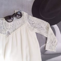 New this week, the @forloveandlemons 'Bonita Dress'. The perfect little white lace dress + definitely a summer staple. Add a black hat + sun...  // @shopbicyclette on instagram