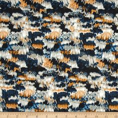 Art Gallery Bound Fringe Midnight from @fabricdotcom  Designed by April Rhodes for Art Gallery, this cotton print fabric is perfect for quilting, apparel and home decor accents. Colors include black, shades of blue, white, grey, gold and brown.