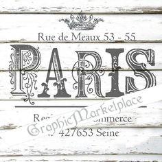 French Paris Rue de Meaux