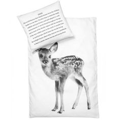 Housse de couette Bébé Bambi et taie d'oreiller - 100% coton bio - By Nord - Déco Nordique - Meubles & Deco - Enfants - Ambiance et styles