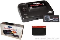 Sega Master System II. Alex Kidd was built in. I could never finish it but my brother did (once).