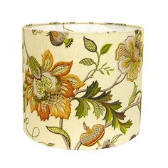 Custom Lamp Shade - Floral Lampshade - Brissac by P Kaufmann in Amber - Jacobean Floral Lampshades - Fabric Lamp Shades - Made to Order by CruelMountain on Etsy https://www.etsy.com/listing/179495649/custom-lamp-shade-floral-lampshade