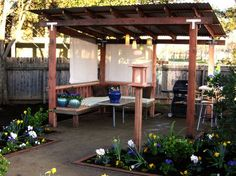 Looking for some easy pergola plan to remodel your outdoor living space? Her, we have collected some inspiring DIY pergola ideas with the complete tutorial for your ultimate reference! Diy Pergola, Pergola Design, Backyard Gazebo, Backyard Landscaping, Pergola Ideas, Cozy Backyard, Pergola Roof, Cheap Pergola, Gazebo Canopy