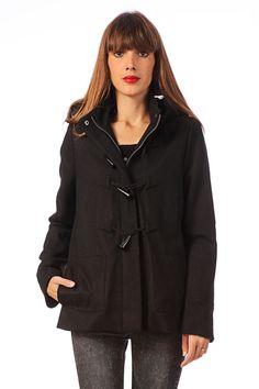 Manteau en laine Nola Noir Naf Naf sur MonShowroom.com 110€