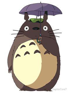 "My Neighbour Totoro - Umbrella Totoro"" Stickers by RaptorCore7 ..."