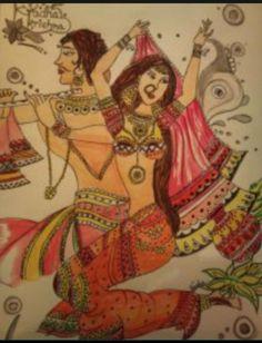 radhe Krishna ? - Painting by Varsha Saraf in Varsh@ART at touchtalent