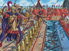The Battle of Mylae took place in 260 BC during the First Punic War and was the first real naval battle between Carthage and the Roman Republic. This battle was key in the Roman victory of Mylae (present-day Milazzo) as well as Sicily itself. It also marked Rome's first naval triumph and also the first use of the corvus in battle.