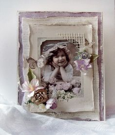 A vintage card by Minna, featuring the Flower Frames collection