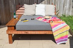 Incredibly solid custom deisgned daybed for by SteveBackDesign Outdoor Dining, Outdoor Decor, Granny Flat, Put Together, My Design, Relax, Patio, Outdoor Furniture, Stuff To Buy