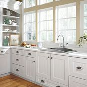 hampton bay shaker satin white cabinets - Google Search ...