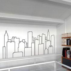 New York City Skyline Stencil
