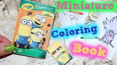Learn how to make American Girl Doll Coloring Book & Crayons. These doll crafts are so easy to make. We made this minion's coloring book & crayons for our Am. Diy And Crafts Sewing, Crafts For Girls, Doll Crafts, Diy Doll, Ag Dolls, Girl Dolls, Diy Crayons, American Girl Crafts, American Girls