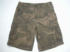 Arizona Jean Co Brown Camo Men's Cargo Shorts Size 38 ( Measure 38X12 ) #Arizona #Cargo