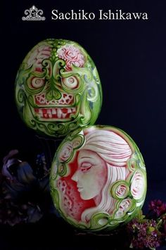 【Watermelon Carving】~Beauty and the Beast~