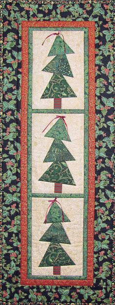 Tipsy Tree Table Runner. This would make a cute wall hanging also! | by Castilleja Cotton