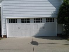 Three Panel Carriage House Garage Door with Large Windows