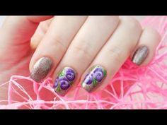 Китайская роспись - фиолетовые цветы / One stroke purple flowers