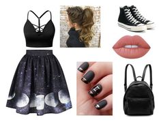 """NIGHT"" by diana-gheatau on Polyvore featuring J.TOMSON, Converse, STELLA McCARTNEY and Lime Crime"