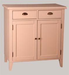 2-ovi komuutti (85x52x90 cm), tervaleppää. Kuvassa vaaleanpunaiseksi maalattuna. juvi.fi