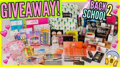 HUGE BACK TO SCHOOL GIVEAWAY! | 2 WINNERS!