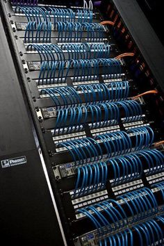 Beautiful, sexy cable management. #Cables #Switches #PatchPanels #Network #Sexy #OCD